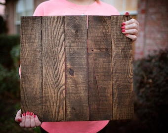 Reclaimed Blank Pallet Wood Canvas Sign   Blank Wood Sign   Stained Pallet Sign   Gift For Her   School Craft   DIY Sign   Custom Made Sign