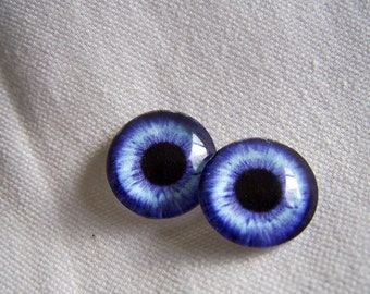 12mm Eye chips blue glass eyes for art dolls and fantasy figures