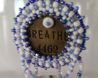 Breathe Bead Embroidery Necklace - 01BR55