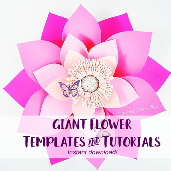 Giant paper flower template printable pdf templates video giant paper flower template printable pdf templates video tutorials mightylinksfo Gallery