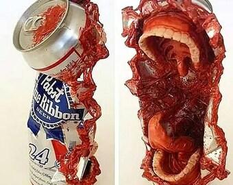 Pabst Goo Ribbon - horror, art, sculpture, zombie