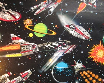 Vintage Stars Wars Gift Wrap Space Ships