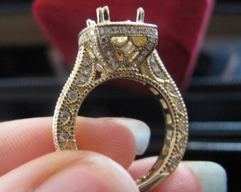 Regal Engagement Ring Setting, Cathedral Engagement Ring Setting, Diamond Engagement Ring Setting, Filigree Engagement Ring Semi Mount,