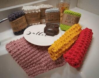 Handmade scrubby dishcloths