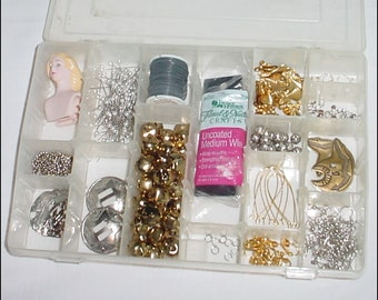 Craft Project Assortment Lot with Storage Box