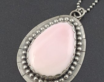 Pink Shell Necklace, boho neckalce, bohemian necklace, shell necklace, silver and pink, beach necklace, seashell necklace, michele grady