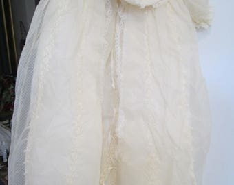 vintage dotted swiss christening gown