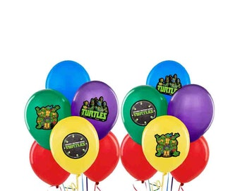 Teenage Mutant Ninja Turtles TMNT Balloon Stickers Decorations Self Adheshive Party Favor Balloon Decals Movie
