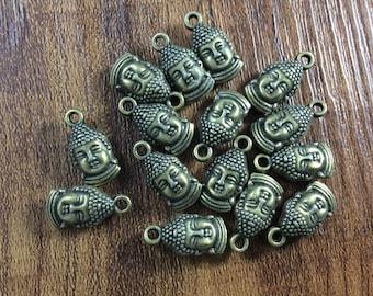 25pcs Double  Sided Buddha  charms for buddha bracelet buddha necklace buddha jewelry  be1 r82