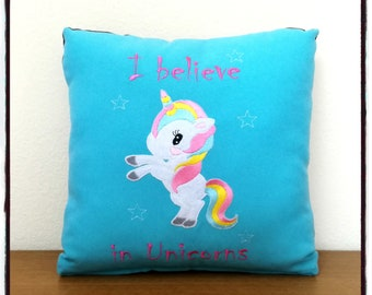 Unicorn Pillow I believe in unicorns Kawaii