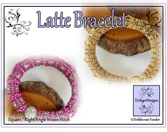 Beading Pattern, Tutorial, Bracelet - LATTE