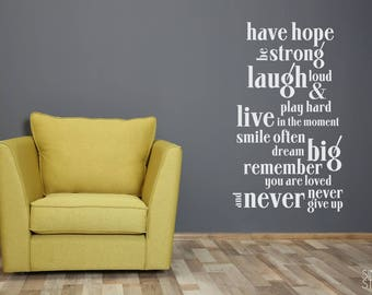 Have Hope Nursery Wall Decal Quote - Vinyl Text Sticker Art Custom Home Decor