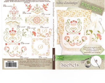 Sachets Anita Goodesign Embroidery Designs