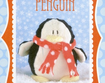 "Stuffed Penguin Pattern, Paddy the Penguin, Sweetbriar Sisters, Stuffed Toy Pattern, Penguin Toy Pattern, 5"" tall"
