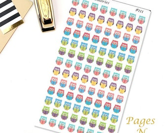 Reading Owls Planner Stickers/ Library Stickers/  Erin Condren/  Plum Paper/ Happy Planner/ Recollections/ Sew Much Crafting  #111