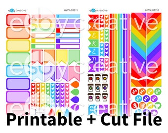 Rainbow Realness - Erin Condren Horizontal Weekly Sticker Kit Printable - HWK-012 - INSTANT DOWNLOAD