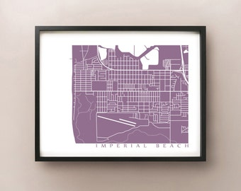 Imperial Beach Map Print - San Diego Area Poster