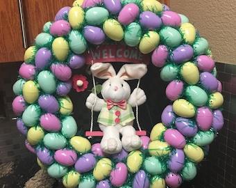 Easter Wreath, Easter Bunny, Easter egg, Easter swag, Easter Bunny Wreath