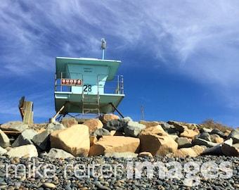 Carlsbad Lifeguard Stand Photograph Art Print California