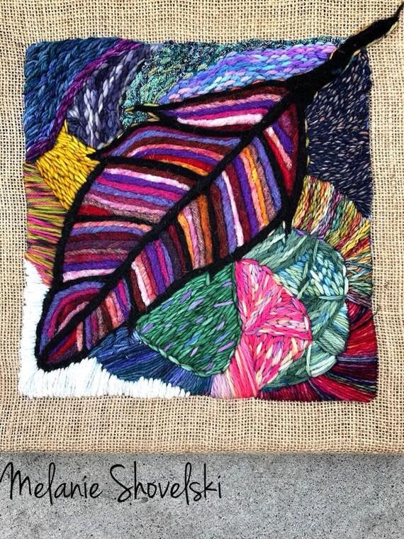 Prairie Feather Series Boho Hippie Country Original Needlefelting & Embroidery Fiber Art