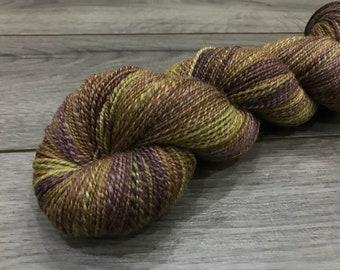 HANDSPUN YARN (Polwarth/Silk) - Autumn Whispers