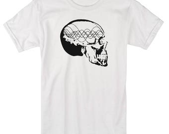 Men's MUSIC MINDED Shirt Tone Wave Skull Sacred Geometry Clothing Frequency Pythagoras Tee