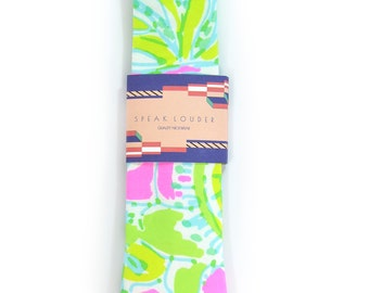 Green neon pink and yellow jungle tropic necktie - Wedding Mens Tie Skinny TROPICAL TIE Laid-Back necktie