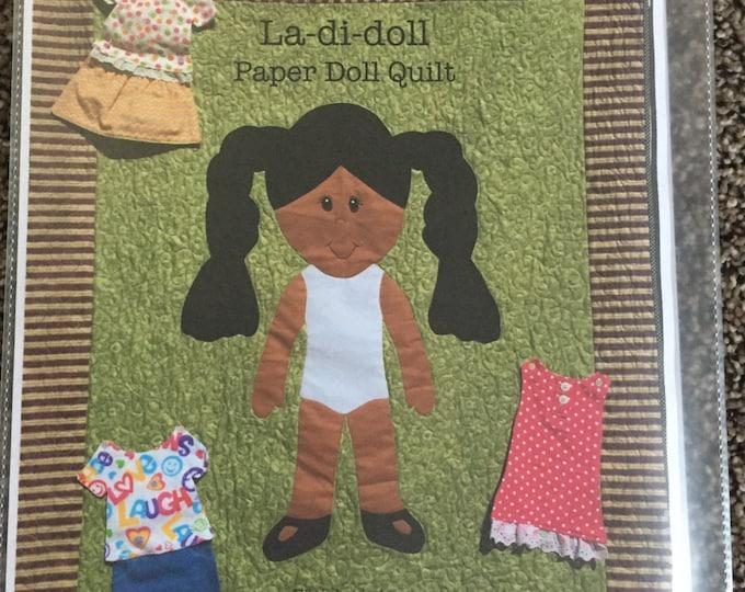 La Di Doll Quilt Pattern, Paper Doll Quilt Pattern, Paper Doll Blanket Pattern, Handmade Quilt Pattern, Quilt for Kids Pattern