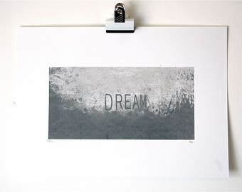 Dream Limited Edition Screenprint in Silver - also available in Gold