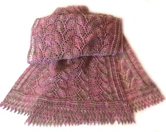 Honley Lace Scarf Knitting  Pattern WM2059