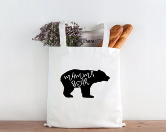 Mamma Bear Tote, Mamma bear, bear tote, tote bag, market bag, mothers gift, mother's day gift, mothers day, mom gift
