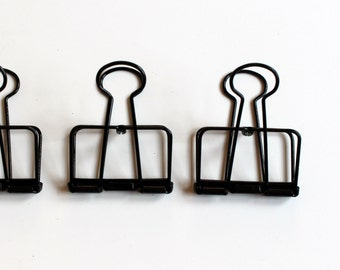 Just the clips, SET of 3 adjustable metal binder clips