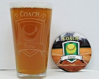 Softball, Softball Coach Gift, Softball Gifts, Softball Coaches, Softball Coach, Softball glass, Softball Mom