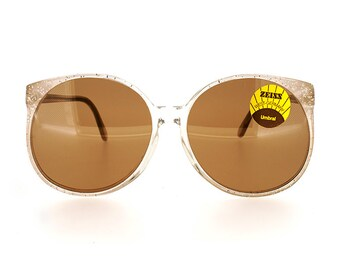 Genuine 1980s Zeiss 8304 178 Round Vintage Sunglasses // Made in West Germany // New Old Stock