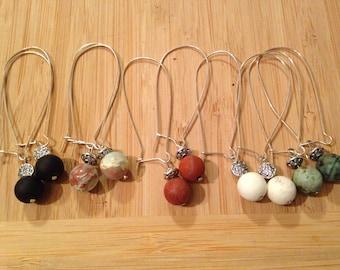 Zen earrings in semi precious stones