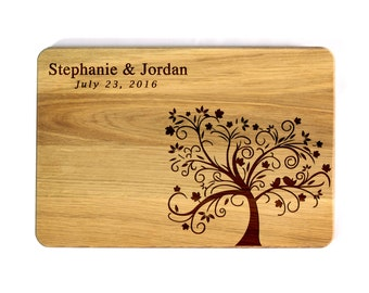 Personalized Cutting Board Engraved Cutting board Wedding gift Wedding Love Tree Family tree Custom Wedding Gift Bridal Shower Gift