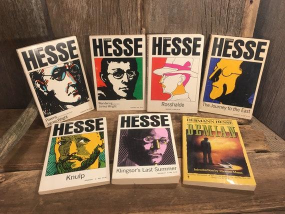 Vintage lot of Herman Hesse Books, great collection of Herman Hesse soft cover books, Hesse collection of books, 1970's hermann Hesse books