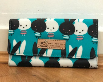 Blue Rabbit Flipover Long Wallet