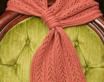 Handmade, Handcrafted Mauve Lace  Alpaca Silk Lace Scarf