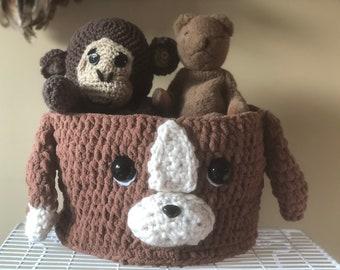 Puppy storage basket