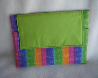 Ipad Sleeve in Stripes - 100% HANDMADE