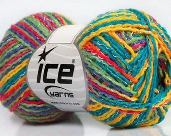 WOOL YELLOW TURQUOISE LILAC PINK SUMMER SALE ICE GREEN 50G FINGERING AND 3 / / 63