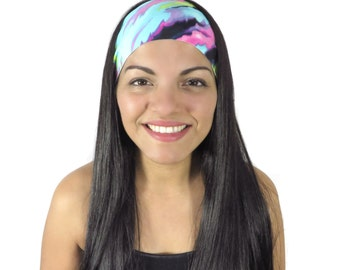 Boho Headband Yoga Headband Fitness Headband Workout Headband Running Headband Fashion Headband Turban Women Head Wrap Wide Headband S236