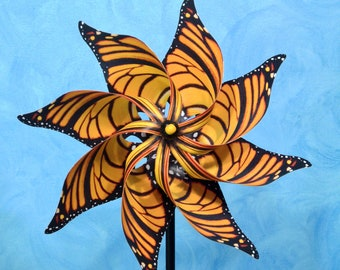 Monarch Butterfly Pinwheel Spinner Whirligig Windmill