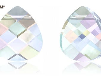 Swarovski 6012 - Flat Pear Briolette Crystal Pendant