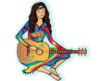 Hippie sticker