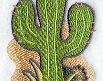 Southwestern Cactus  Embroidered Flour Sack Hand/Dish Towel