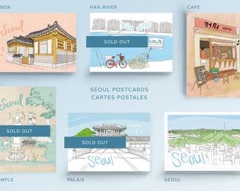 3 Seoul Postcards