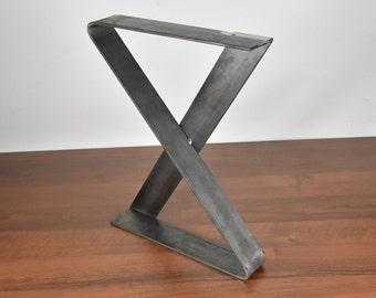 Bench Legs, Flat Bench Legs, Set Of 2 Steel Bench Legs, Steel Coffee Table  Legs, Metal Table Legs, Industrial Legs, Coffee Table Base