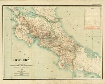1903 Map of Costa Rica